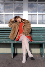 Anita is Vintage 70s Light Brown Faux Fur Coat