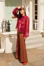 Anita is Vintage 70s Brown High Waisted Flares