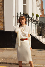 Anita is Vintage 70s Cream Knitted Three Piece Set