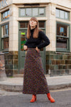 Anita is 70s Floral Maxi Skirt