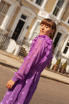 Anita is Vintage 70s Purple Sheer Midi Dress