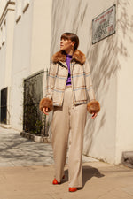 Anita is Vintage 80s Aquascutum Check Jacket
