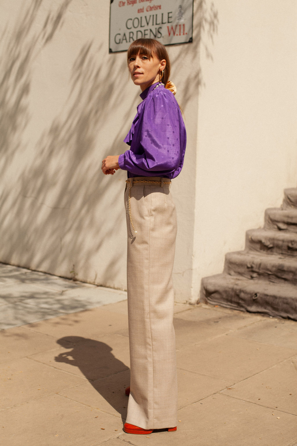 Anita is Vintage 80s Aquascutum Beige Trouser