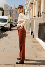 Anita is Vintage 80s Brown High Waisted Tailored Trouser