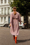 Anita is Vintage 80s Purple & Yellow Stripe Jumper Dress