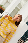 Anita is Vintage 80s Yellow & Pink Stripe Knit