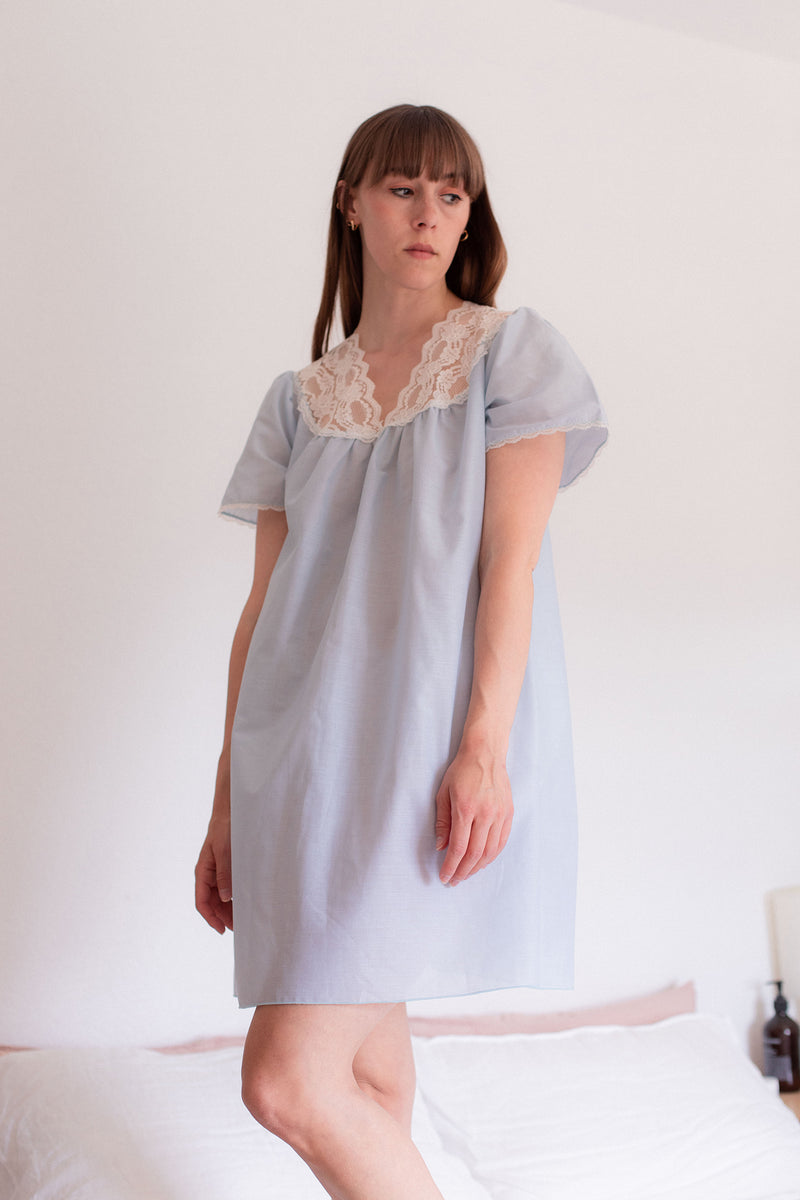 Anita is Vintage 60s Pale Blue Night Dress