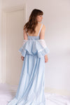 Anita is Vintage 60s Baby Blue Embroidered Slip Dress & Gown Set