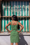 Anita is Vintage 60s Green & Yellow Floral Mini Dress