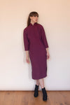 Anita is Vintage 60s Red & Navy Check Cheongsam Dress