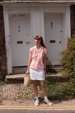 Anita is Vintage 60s White Mini Skirt