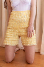 Anita is Vintage 60s Yellow Lace Bloomers