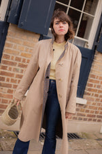 Anita is Vintage 70s Aquascutum Grey Reversible Trench Coat