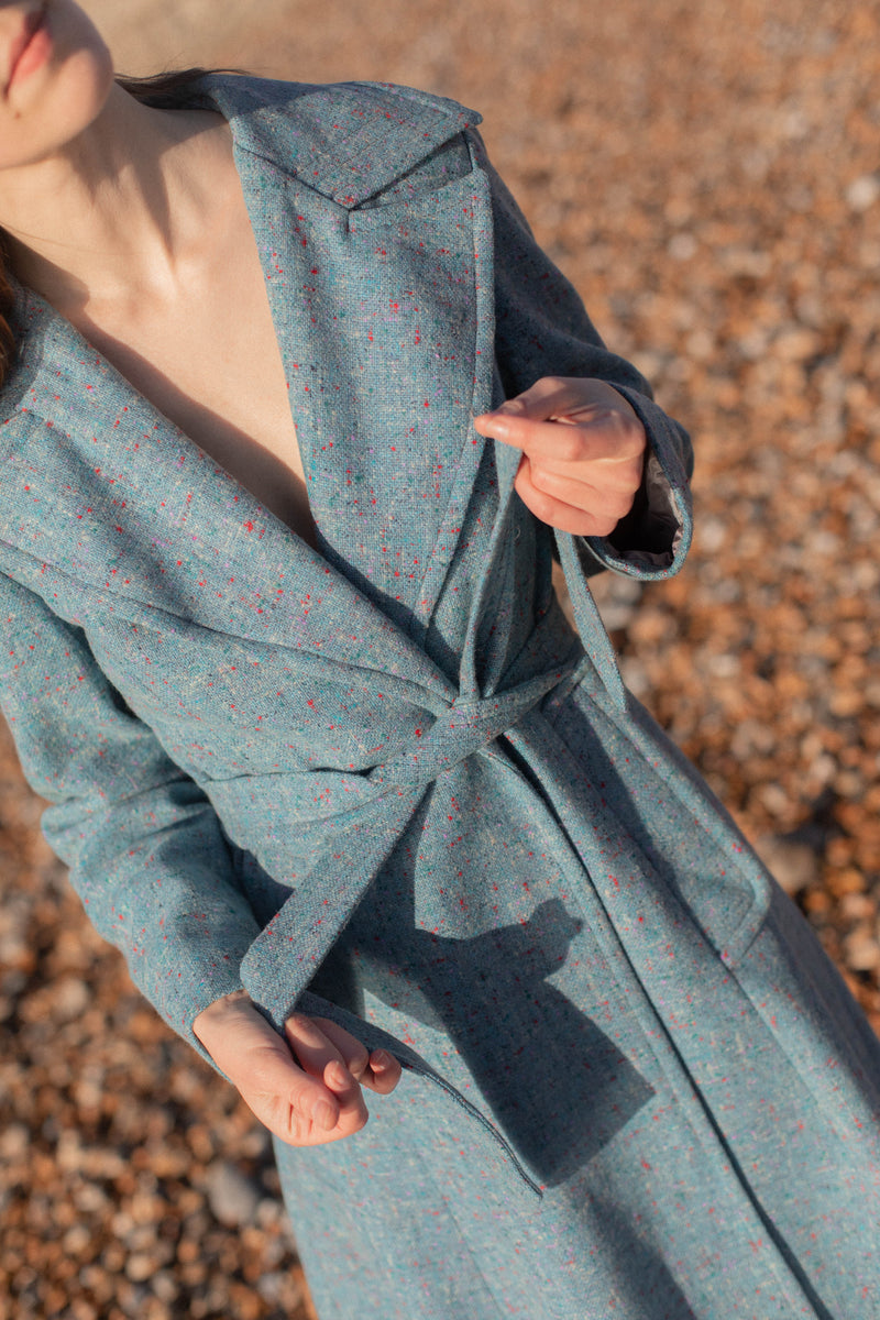 Anita is Vintage 70s Blue Wool Coat