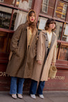 Anita is Vintage 70s Brown Check Reversible Trench Coat