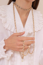 Anita is Vintage 70s Gold Long Necklace