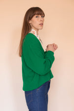 Anita is Vintage 70s Izod Lacoste Green V-Neck Jumper