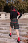 Anita is Vintage 80s Green & Red Tartan Short