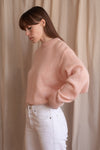 Anita is Vintage 80s Pastel Pink Knitted Jumper