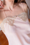 Anita is Vintage 80s Peach Lace Cami Top