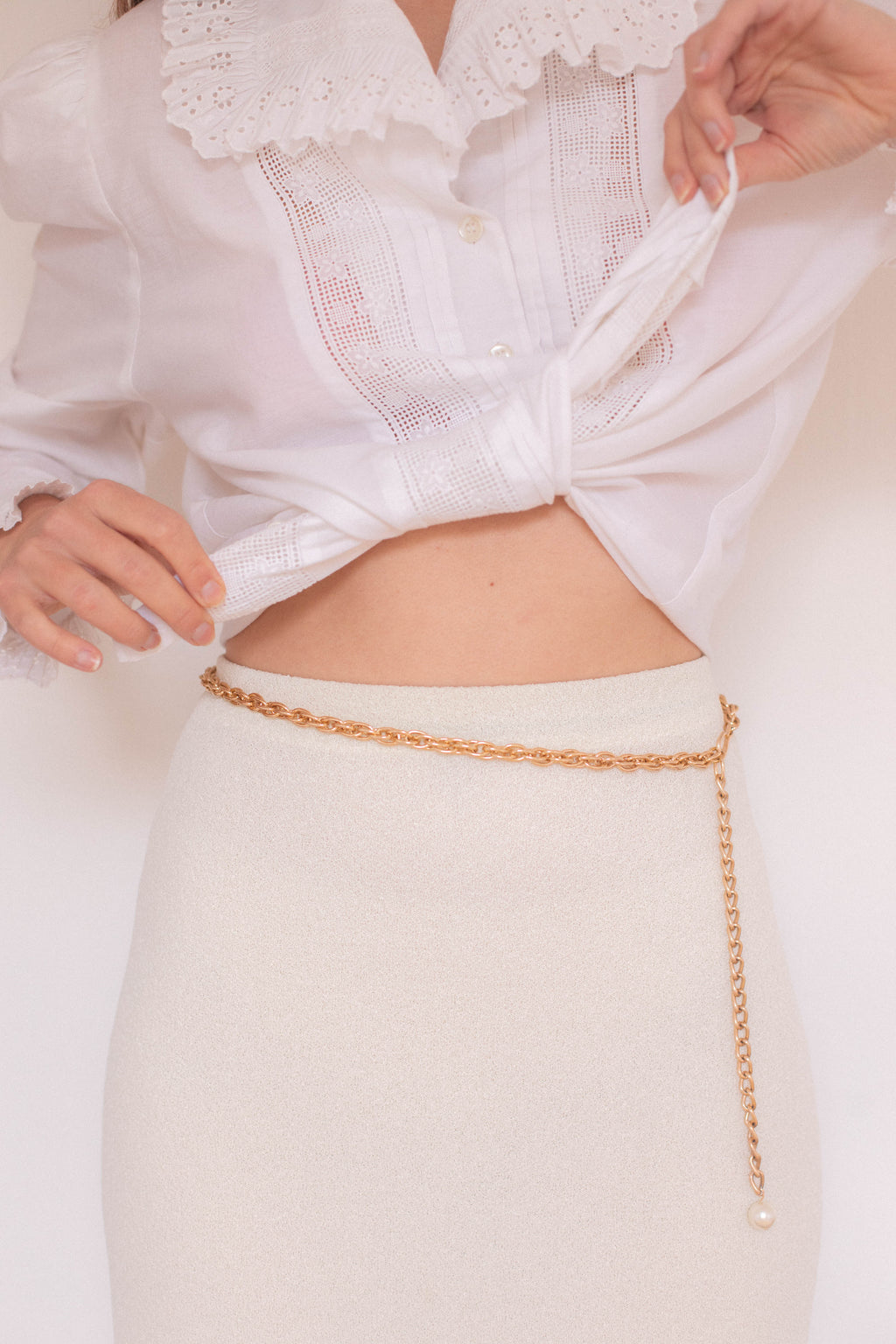 Anita is Vintage Gold Chain Belt