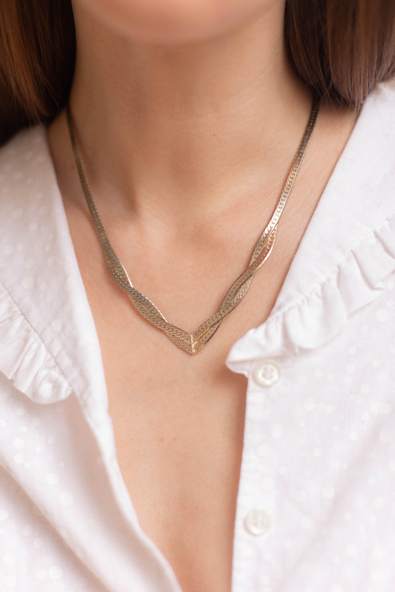 Anita is Vintage Pierre Cardin Gold Necklace