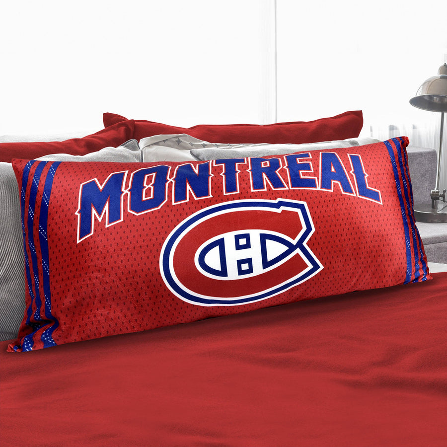 A body pillow with Montreal Canadiens