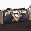 A body pillow with Pittsburgh Penguins