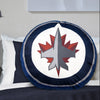 A logo pillow with Winnipeg Jets
