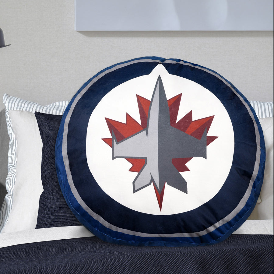 NHL Winnipeg Jets Jumbo Logo Pillow
