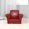 A kids upholstered chair with the Montreal Canadiens