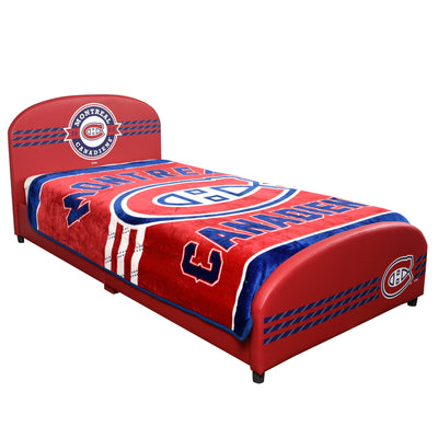Twin NHL Montreal Canadiens Upholstered Bed