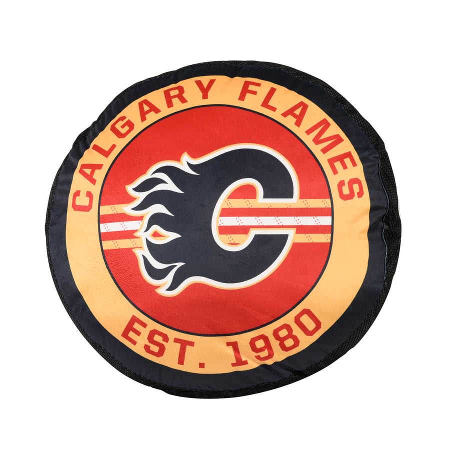NHL Calgary Flames Puck Pillow