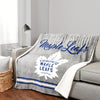 NHL Toronto Maple leafs Super Luxe / Sherpa Blanket