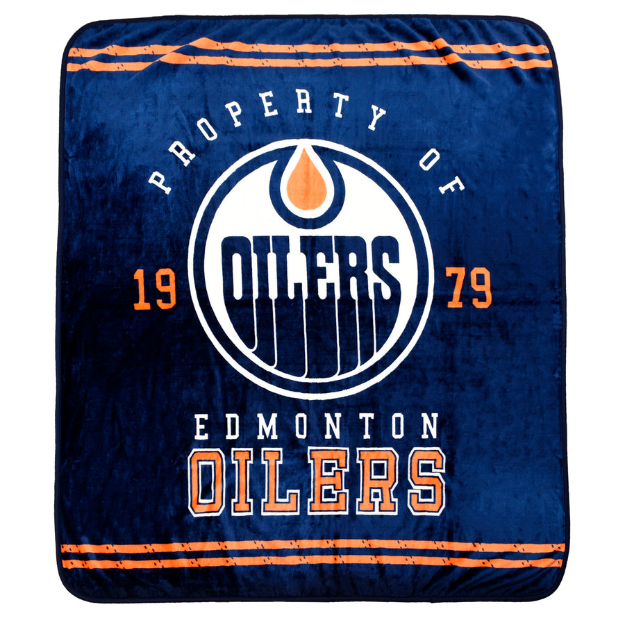 NHL Edmonton Oilers Velour High Pile Blanket