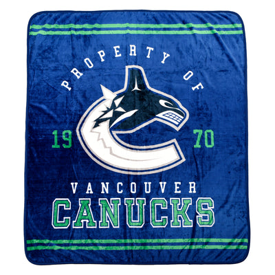 NHL Vancouver Canucks Velour High Pile Blanket