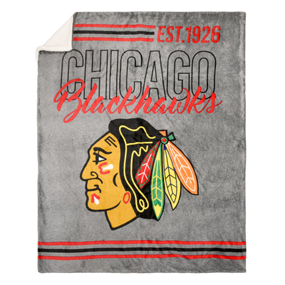 NHL CHICAGO BLACKHAWKS SUPERLUXE THROW