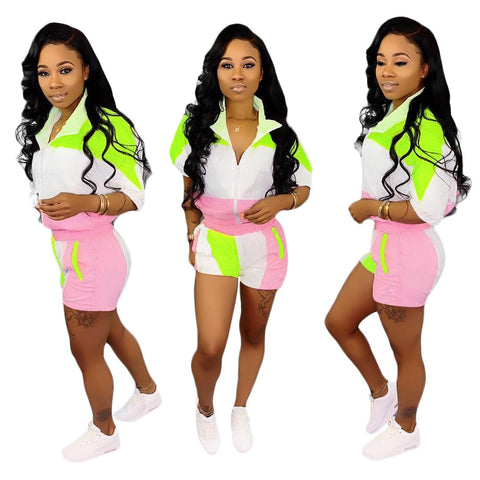 RoseyMacy Two Pieces Women Sweatsuit Women Summer Sweatsuit