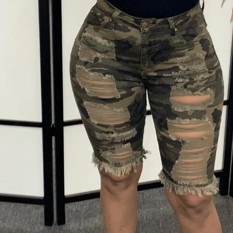 RoseyMacy  2020 Camo Shorts Women Shorts