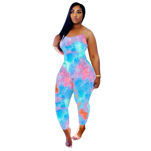 RoseyMacy Multicolor At-home Jumpsuit One Piece Costume Women Jumpsuit