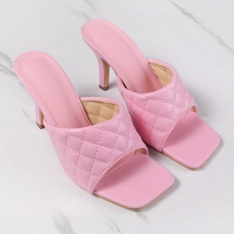 RoseyMacy Candy Color Women Sandals High Heels Sandals