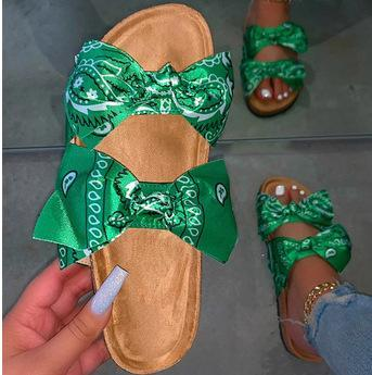 RoseyMacy Cute Sandals BowKnot Decorated Women Sandals