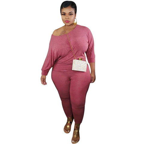 RoseyMacy Women Casual Tops and Pants Plus Size Outfits Plus Size Women Outfits