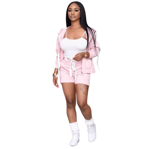 RoseyMacy Women Tank Tops and Women Shorts and Short Cardigan Three Peices Women Outfit US Women Shorts Set