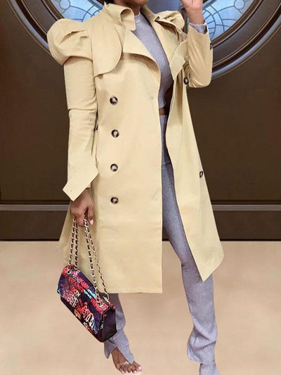 RoseyMacy Women Outerwear Women Coat Women Wind Coat Long Trench