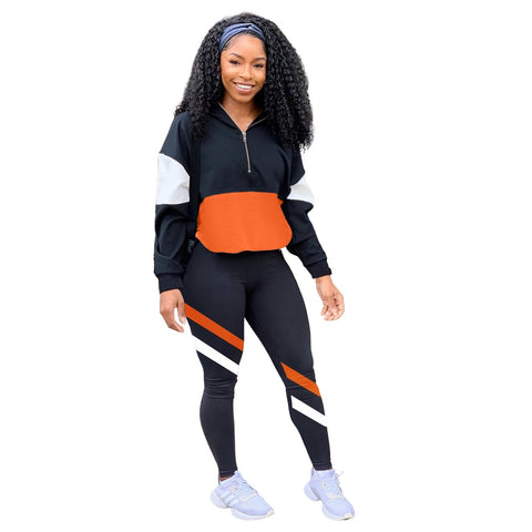 RoseyMacy Women Sweat Jacket and women Sweat pants Two Pieces Outfits