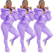 RoseyMacy Women Hoodie and Women Pants Two Pieces Outfits