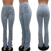 RoseyMacy 2020 Women Pants Folded Pants Women Skinny Pants