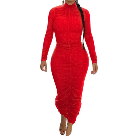 RoseyMacy 2020 Winter Women Dress Midi Dress Skinny Dress