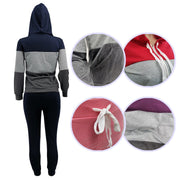 RoseyMacy Women Hoodies Striped Hoodies and Sweat Pants Two Pieces outfits